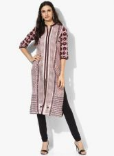 Buy W Off White Printed Kurta for Rs. 1275