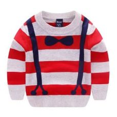 Stripes Print Red Sweatshirt for Rs. 659