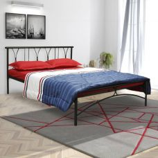 Flat 30% off on FurnitureKraft Washington Metal Queen Bed  (Finish Color -  Black)