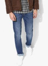 Get 60% off on Blue Washed Low Rise Slim Fit Jeans (Vapour)