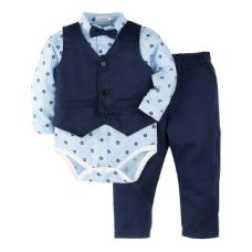Full Sleeves Blue Onesies with Vest and Pant Set for Rs. 1,289
