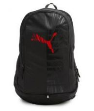 Buy Puma Red Graphic Backpack from SnapDeal