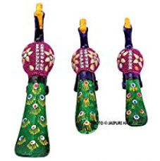 Jaipuri Haat handicrafted set of 3 showpiece Peacock Made of Pure lakh and paper matche for decoration and Gift purpose (12x11 CM) for Rs. 249
