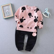 Buy Cute Pink Sweatshirt And Pant Set from Hopscotch