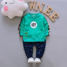 Buy No. 1st Print Green T-Shirt and Pant Set from Hopscotch