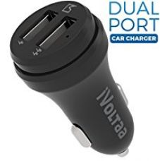 Buy iVoltaa 2 Port Smart Car Charger for Apple iPhone, Samsung , Motorola, Lenovo, Honor, OnePlus, Xiaomi, LeTV, HTC, LG, Pixel, ASUS, Coolpad, Sony, Micromax, Intex, Meizu, Karbonn and all other mobile devices, Tablets, GPS and Other USB rechargeable devices (Black) from Amazon
