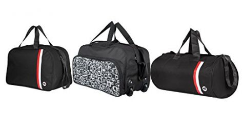 Buy 3G Set of 3 Travel duffel bags black from Amazon