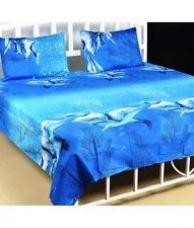 Double bed sheet with 2 pillow cover for Rs. 399