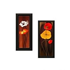SAF flower Textured UV print Painting( Set of 2 , 18 cm x 2 cm x 40 cm) for Rs. 299