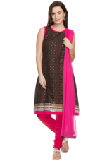 X HAUTE CURRY Womens Printed Churidar Suit