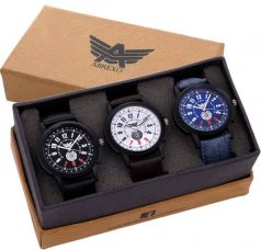 Abrexo Abx-1190BLK-BLU-WHT Trending Combo of 3 Watches Sporty Series Analog Watch  - For Men for Rs. 530