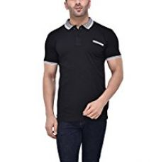 Buy Tinted Men's Cotton Lycra Polo Neck T-Shirt from Amazon