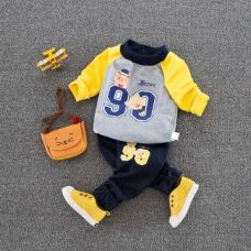 Buy Gray Number Print Sweatshirt And Pant Set from Hopscotch