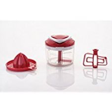 Buy Ganesh Metal Easy Pull 3-in-1 Plastic Chopper, 650ml/125mm, Red from Amazon
