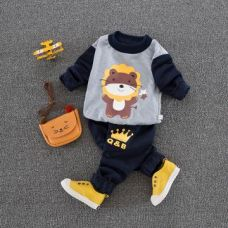 Buy Cute Gray Sweatshirt And Pant Set from Hopscotch