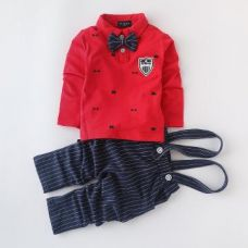 Red T-Shirt With Suspender Pant Set for Rs. 949