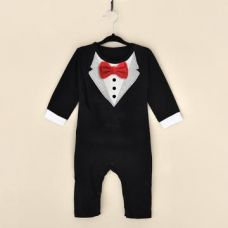 Buy Red Bow Applique Black Formal Style Romper from Hopscotch