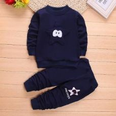 Navy Star Applique Sweatshirt And Pant Set for Rs. 579