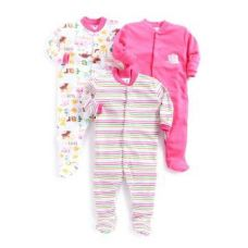 Flat 13% off on Round Neck Pink Footie - Pack of 3