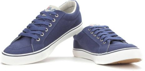 Flat 56% off on Fila ACHILLEO Canvas Shoes  (Blue)