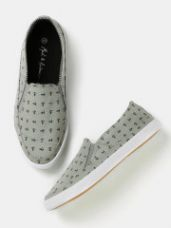 Get 40% off on Men Printed Slip-Ons