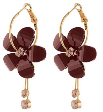 Buy YouBella Jewellery Gold Plated Fancy Party Wear Earrings for Girls and Women (Brown) from Amazon