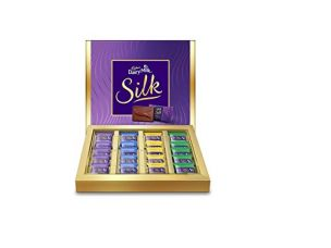 Cadbury Dairy Milk Silk Chocolate Gift Pack, Miniatures, 200g (Pack of 20) for Rs. 412
