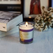 Buy Resonance Natural Wax Medium Glass Candle - Votive Meditation Candle in Lavender Aroma from Amazon