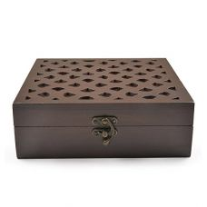 Buy Style My Way Abstract Hand Carved Wooden Jewelry Box from Amazon