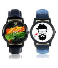 Flat 55% off on Men Foxter Colourful Designer Latest Collection Analog Watches for Boys