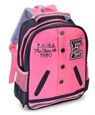 Buy School Bag Pink Black - 12 inch from FirstCry