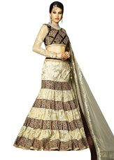 Buy Kvsfab Net Saree (kvs 10004Moh_Brown_Free Size) from Amazon
