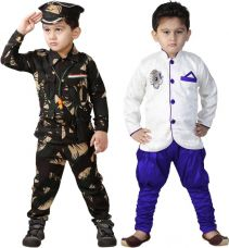 Buy FTC Bazar Boys Festive & Party Kurta and Pyjama Set  (Black Pack of 4) for Rs. 599