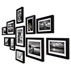 Buy Painting Mantra Boulevard Polymer Individual Photo Frame, Set of 11 (3pc - 8x10, 8pc - 6x8 inch, Black) from Amazon