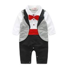 Red Bow Applique Romper for Rs. 659
