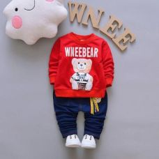 Buy WneeBear Print Red T-Shirt and Jeans Set from Hopscotch
