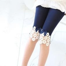 Get 26% off on Navy Capri With Flower And Bow