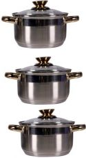 Buy Pococina 6 pcs Induction Cookware Set  (Stainless Steel, 3 - Piece) from Flipkart
