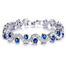 Yutii Bracelet for Girls and Women with High Grade Royal Blue Stylish Sterling-Silver for Rs. 999