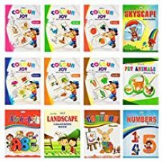Colouring books set of 12 in King Size from Inikao for Rs. 270