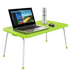 Home Puff Multipurpose Table - Laptop Table, Bed Table Premium Quality Foldable with Patented Hinges (Neon Green) for Rs. 1,099