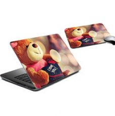 Flat 79% off on meSleep Love Luv Laptop Skin And Mouse Pad