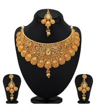 Buy Sukkhi Traditional Gold Plated Kundan Choker Necklace Set for Women for Rs. 469