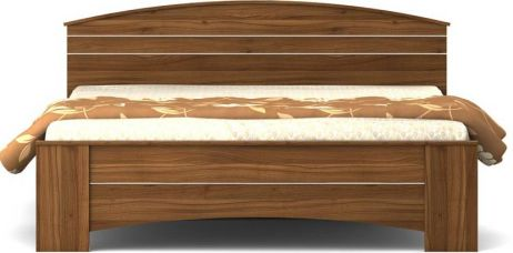 Buy Spacewood Engineered Wood Queen Bed  (Finish Color -  Natural Teak) from Flipkart