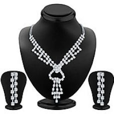 Get 87% off on Silver Plated Silver Necklace Set For Women