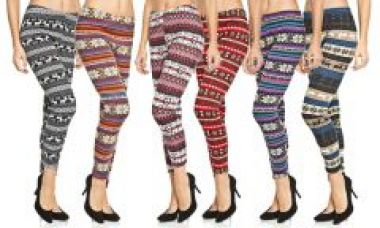 Flat 55% off on Printed Woollen Legging For Ladies ( Assorted Colours )