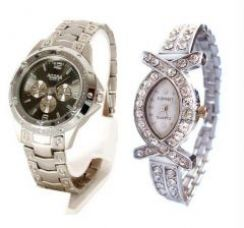 Buy Hi Lifestyles Classy Couple Watch Set For You And Your Beloved for Rs. 395