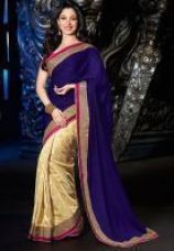 Buy Try N Get Bollywood Replica Tamanna Bhatia Blue Stylish Designer Saree from Rediff