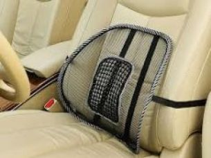 Buy Set Of 2 Car Seat Massage Chair Back Lumbar Support Mesh Ventilate Cushion for Rs. 395