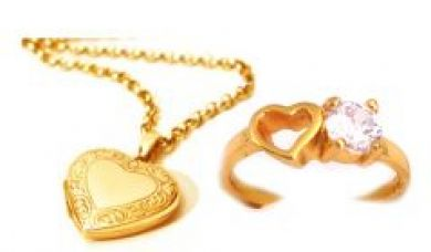 Buy Heart Photo Pendant With Heart Cz Diamond Ring For Your Valentine from Rediff